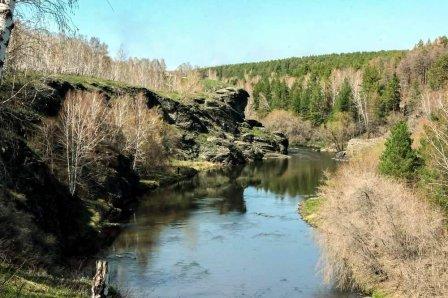 Река Миасс в Каргапольском районе