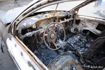 В Кургане сгорела «шестерка»