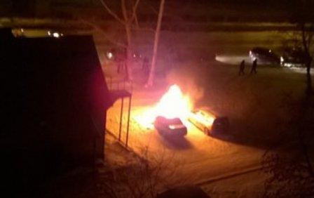 В Кургане сгорел автомобиль.
