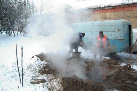 В Целинном районе Курганской области прорвало теплотрассу