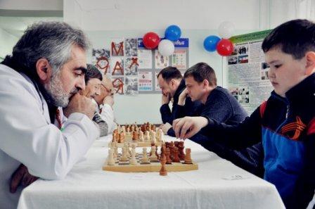 Шахматный турнир в Мишкинской центральной районной больнице.
