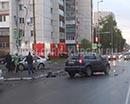 Повернул не убедившись. На перекрестке улиц Карла Маркса и Томина столкнулись две Хонды: ЦВР и Аккорд.