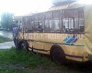 Вторая на этой неделе авария с участием пассажирского транспорта. В Шадринске в автобус въехал МАЗ.