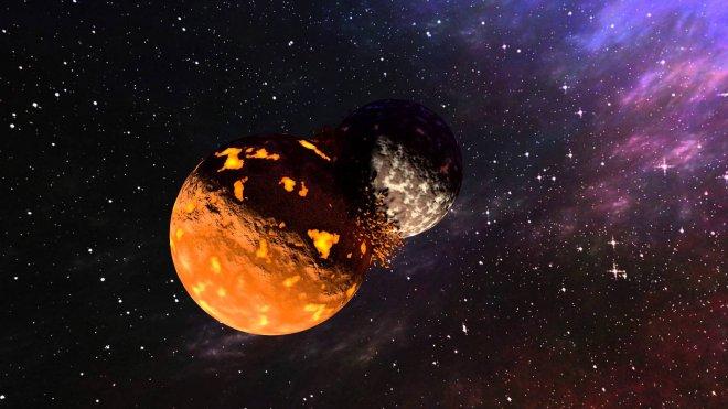 Возможно столкновение Марса и Земли