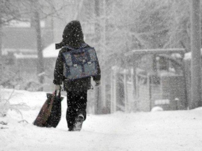 Отмена занятий в школах Кургана в предстоящие морозы